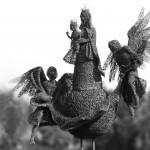 97-mattia-trotta-artist-sculptures-metal-alluminium-steel-bronze-copper-wire-Regina-del-cielo-Madonna-di-Loreto